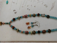 Jewellery Making - finished necklace and earrings