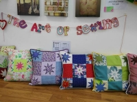 Completed Cushions with edge binding