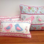 Big and smaill bird cushions